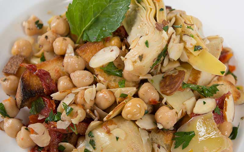 Artichoke and Chick Pea Salad