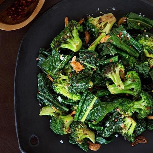 Sauteed Broccoli, Kale and Garlic