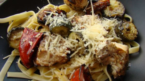 Grilled Italian Chicken with Vegetables