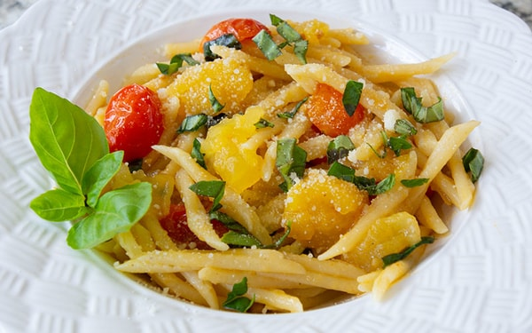 Pasta D'oro With Cherry Tomatoes