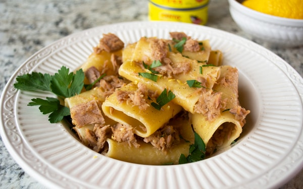 Tuna Over Paccheri